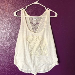 Off White Lace Elephant Tank